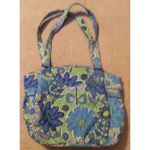 Vera Bradley purse in green and blue floral print